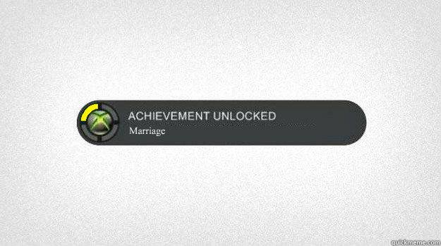 Marriage - Achievement Unlocked 2015 - quickmeme