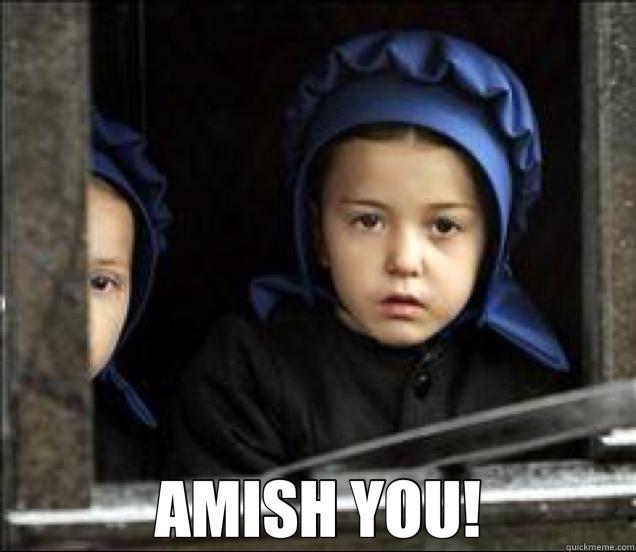 Amish online dating meme