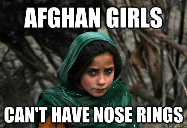 afghan girls Can't have nose rings