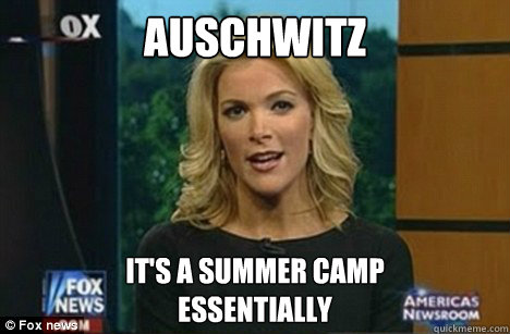 Auschwitz It's a summer camp Essentially  Megyn Kelly