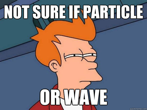 not sure if Particle Or Wave - not sure if Particle Or Wave  Futurama Fry
