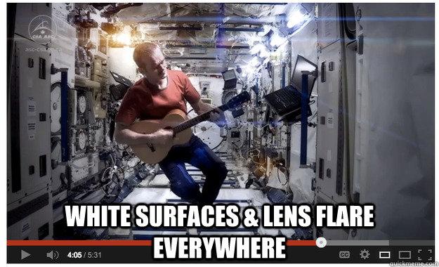 White Surfaces & Lens flare Everywhere  lensflare