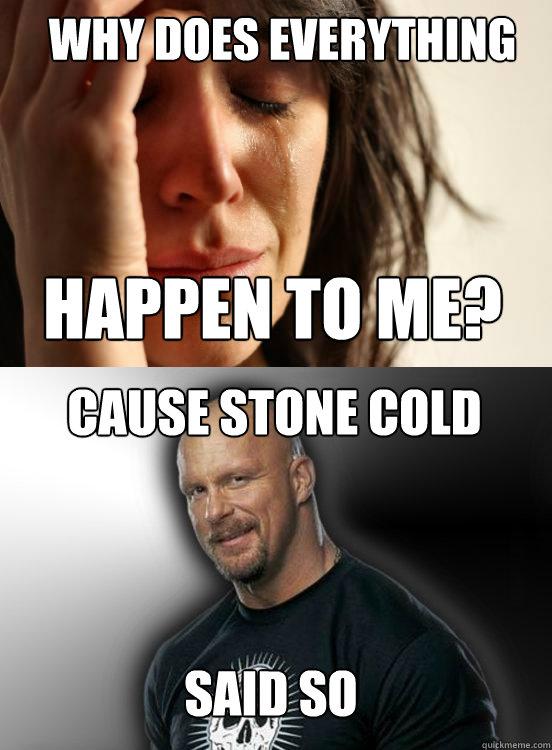 0a99c2bcb25cc266683f2320e5bb12ccbebd41fabba010733b1e1bacac48fce7 stone cold said so memes quickmeme,So Cold Meme