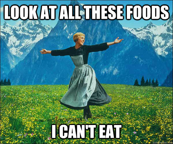Look at all these foods I can't eat - Look at all these foods I can't eat  Sound of Music