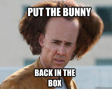 Put the bunny back in the box