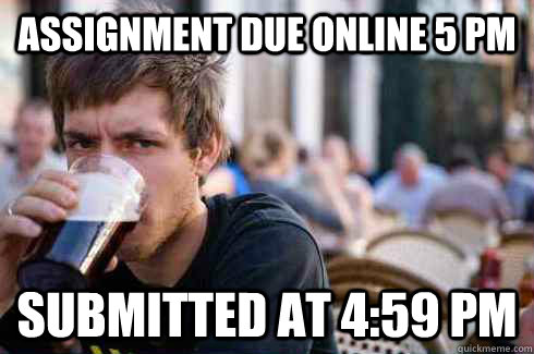 Assignment due online 5 PM submitted at 4:59 pm - Assignment due online 5 PM submitted at 4:59 pm  Lazy College Senior