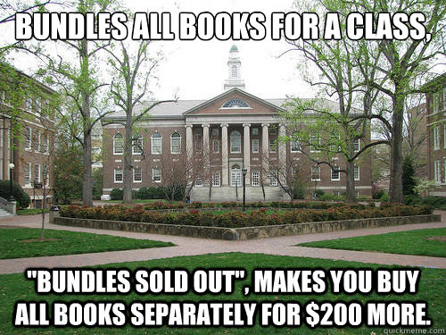 Bundles all books for a class,