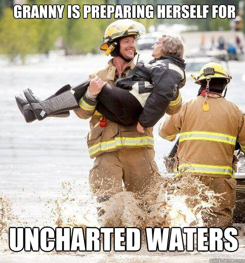 Granny is preparing herself for Uncharted Waters