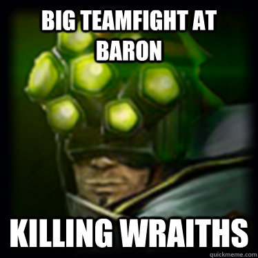 Big Teamfight at baron Killing Wraiths
