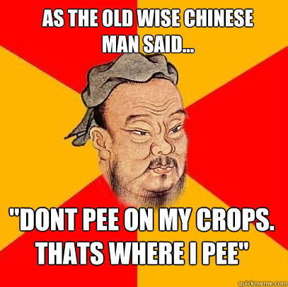 as the old wise chinese man said...