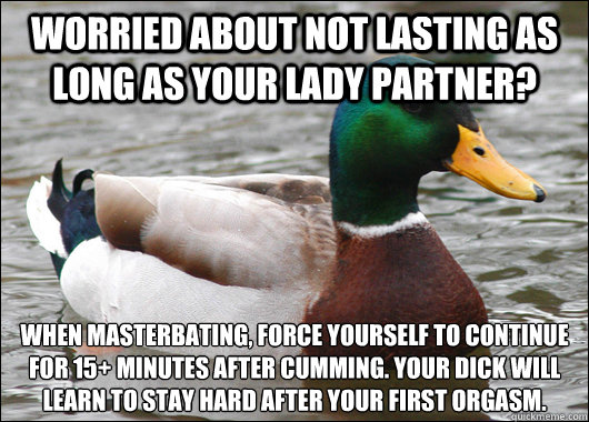 stay hard after orgasm