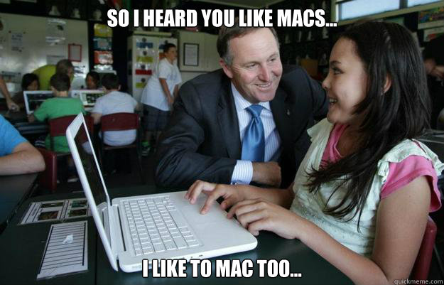 So I heard you like macs... I like to mac too...