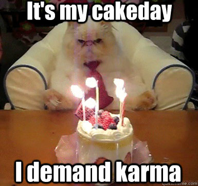 It's my cakeday I demand karma