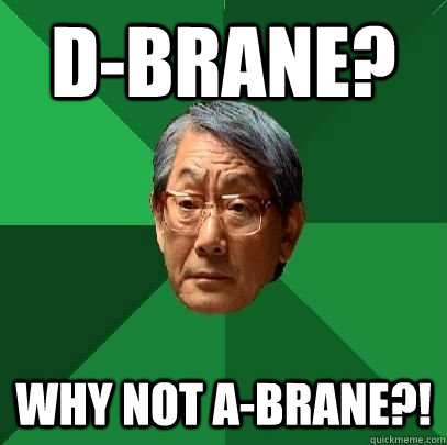 D-Brane? Why not a-brane?! - D-Brane? Why not a-brane?!  High Expectations Asian Father
