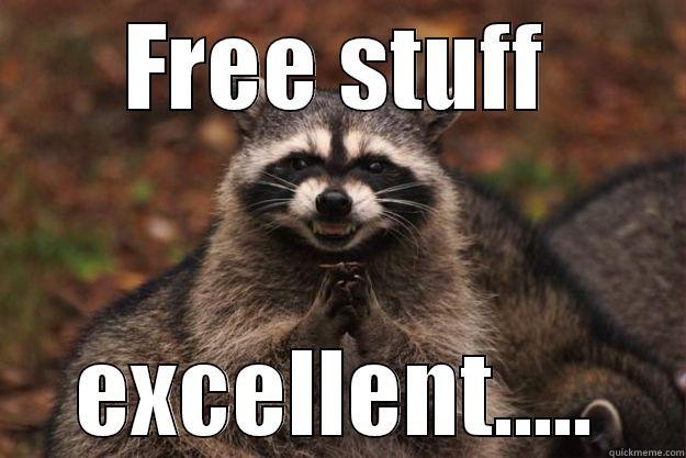 free stuff - FREE STUFF EXCELLENT..... Evil Plotting Raccoon