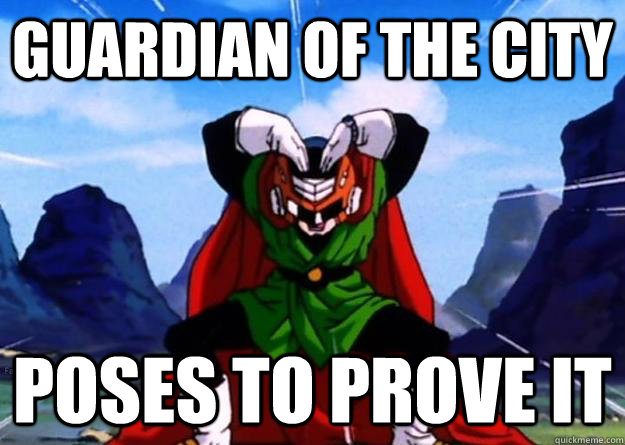 guardian of the city poses to prove it  Great Saiyaman