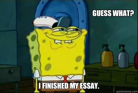 Funny essay meme