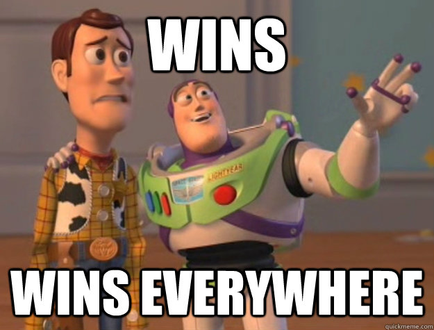 wins wins everywhere - wins wins everywhere  Buzz Lightyear