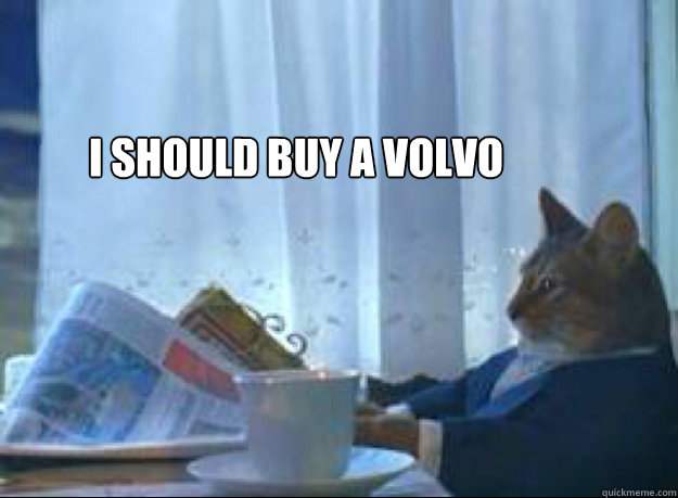 i should buy a volvo  - i should buy a volvo   I should buy a boat cat