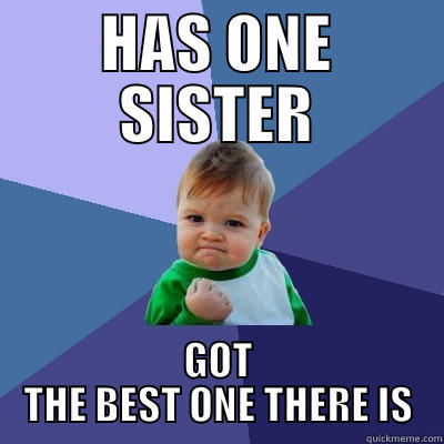 Best Sister - HAS ONE SISTER GOT THE BEST ONE THERE IS Success Kid