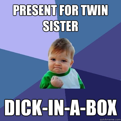 Hot twin sister meme