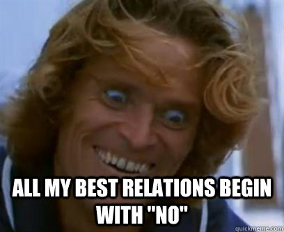 All my best relations begin with