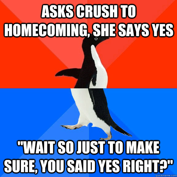 asks crush to homecoming, she says yes
