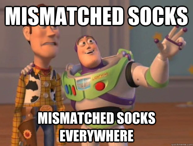 mismatched socks mismatched socks everywhere - mismatched socks mismatched socks everywhere  Buzz Lightyear