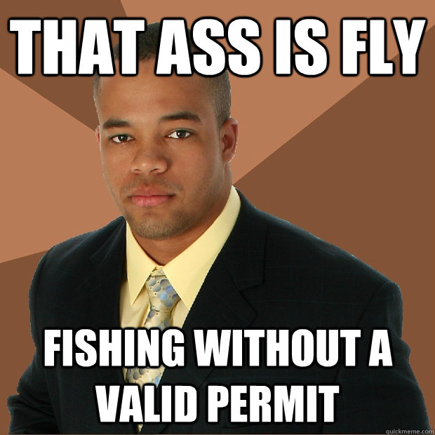 that ass is fly fishing without a valid permit  Successful Black Man