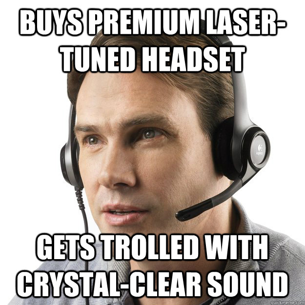 Buys Premium Laser-Tuned headset gets trolled with crystal-clear sound  gamer headset