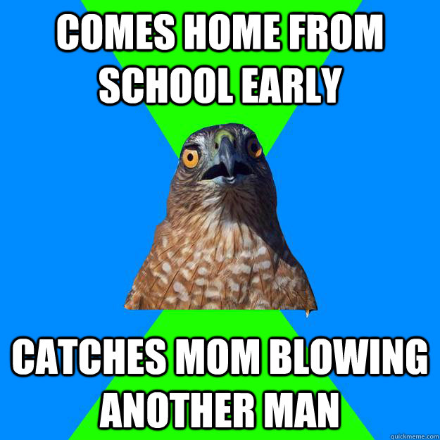 Comes home from school early catches mom blowing another man - Comes home from school early catches mom blowing another man  Hawkward