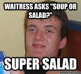 waitress asks
