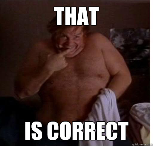 THAT is correct - THAT is correct  Chris Farley