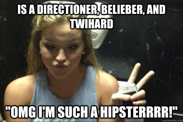 is a directioner, belieber, and twihard