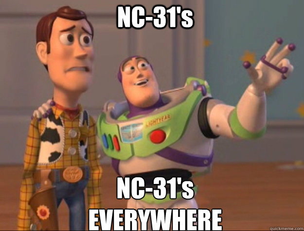 NC-31's NC-31's EVERYWHERE