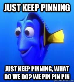 Just Keep pinning Just keep pinning, what do we do? we pin pin pin  Pinning