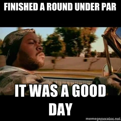 finished a round under par