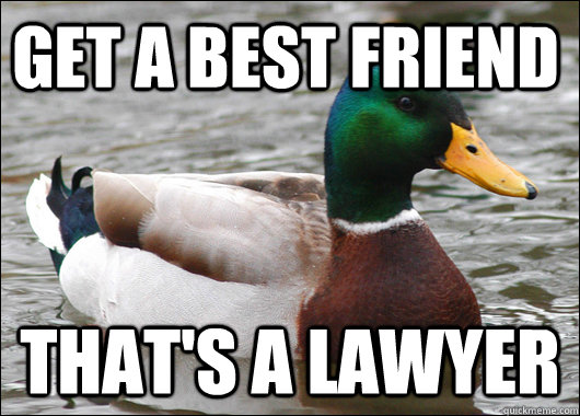 Get a best friend  That's a lawyer - Get a best friend  That's a lawyer  Actual Advice Mallard