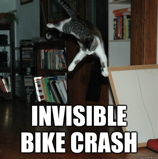 Invisible Bike Crash  Invisible Bike crash
