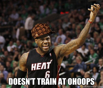 DOESN'T TRAin at ohoops
