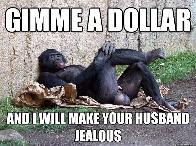 gimme a dollar and i will make your husband jealous
