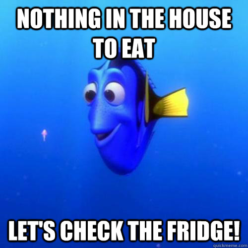 Nothing in the house to Eat Let's check the fridge! - Nothing in the house to Eat Let's check the fridge!  dory
