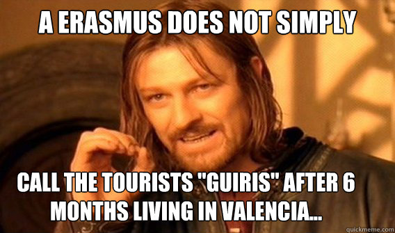 A ERASMUS DOES NOT SIMPLY call the tourists
