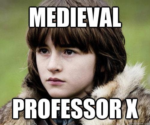 Medieval  professor x