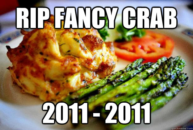 rip fancy crab 2011 - 2011 - rip fancy crab 2011 - 2011  Fancy Crab
