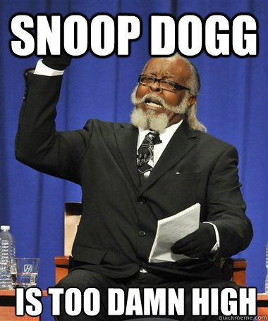 Snoop Dogg Is too damn high