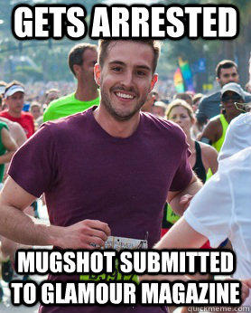 gets arrested mugshot submitted to glamour magazine  Ridiculously photogenic guy