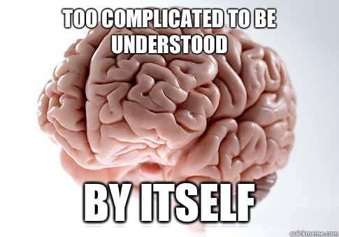 Too complicated to be understood By itself - Too complicated to be understood By itself  Scumbag Brain