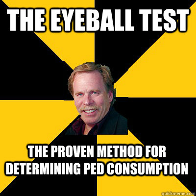 The Eyeball test The proven method for determining PED consumption - The Eyeball test The proven method for determining PED consumption  John Steigerwald