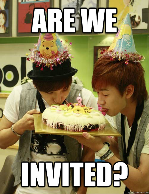 Are we invited? - Are we invited?  super junior birthday
